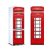 Vinyle adhésif pour les réfrigérateurs autocollants stickers frigo Cabine de Londre de différente taille 185x60 cm| Adhésif Résistant et facile d'appliquer |Étiquette Adhésive Décorative d'une conception élégante|