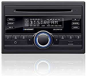 Blaupunkt New Jersey 220 BT 200W Bluetooth Black car media receiver - car media receivers (AM,FM, Black, 200 W, 178 x 170 x 100 mm, 1.6 kg, MP3,WMA)