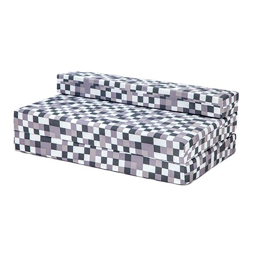 Grey Pixels Design Double Foam Fold Out Z Bed Sofa Guest Mattress Sleepover