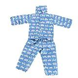 Hirolan Niedlich Pyjama Nachthemd Kleider zum 18 Zoll Unser Generation amerikanisch Mädchen Puppe Sommer Badeanzug Baden Kleider Princess Kleidung Abendkleid American Girl Puppe (H)