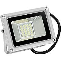TEquem, faretto a LED, luce bianco caldo/bianco freddo,  20W 30W 50W 80W, faretto a LED per esterni, luce a largo fascio luminoso IP65, faretto impermeabile, luce industriale, luce di sicurezza, 5730SMD moderno 20W Kaltweiß