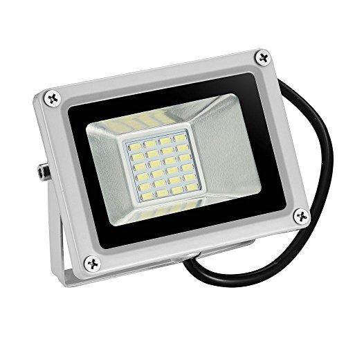 Faretto led da esterno Led floodlight 12V DC Froid Blanc 20W LED Spot Extérieur Étanche IP65 Projecteur En Aluminium Projecteur Mur Projecteur 1800 Lumens 6000K-6500K [Classe énergétique A +]