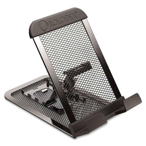 rolodex-mobile-device-mesh-stand-vertical-horizontal-metal-1-each-black-by-rolodex