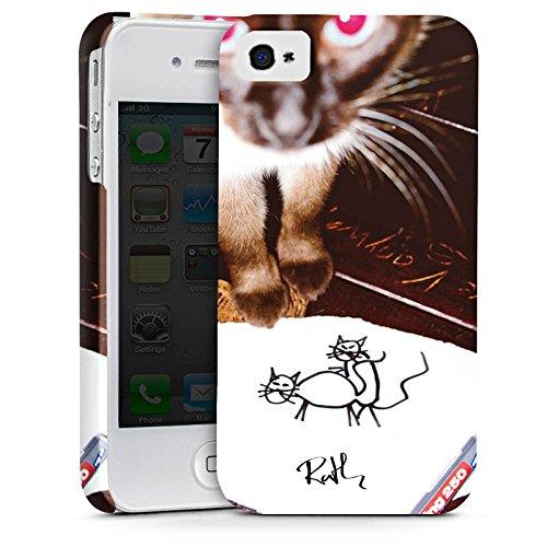 Apple iPhone X Silikon Hülle Case Schutzhülle Oliver Rath Katze Kitty Premium Case glänzend