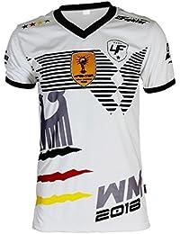 4Fighter Alemania Camiseta Copa del Mundo 2018 blanco e0379abdb4d57