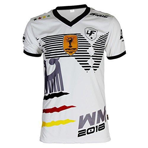 4Fighter Alemania Camiseta Copa del Mundo 2018 blanco, Talla:L