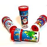 German Trendseller® - 4 x kaléidoskopes de Noel┃motifs de Noel┃perles de couleur ┃petits cadeau ┃enfants