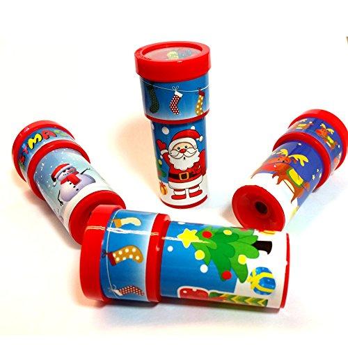 German Trendseller® - 4 x Weihnachts Kaleidoskop ┃ Weihnachten ┃ Mitgebsel ┃ Kinder ┃ 4 (Bilderbuch Kostüme Figur Uk)