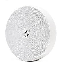 Banda elástica blanca para la ropa personalizada y Artesanía DIY Hogar 10 metros, 2.5 cm en ancho