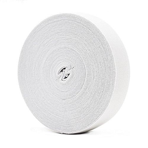 Newsbenessere.com 515Vh4yJorL Bianco elastico per abiti personalizzati e artigianato DIY domestico 10 metri, 2,5 cm in larghezza