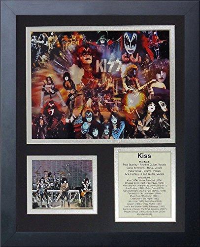 Legenden Sterben Nie Kiss gerahmtes Foto Collage, 11x 35,6cm -