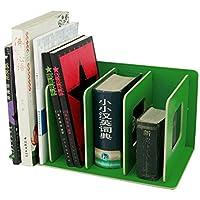 BXT per scaffali diy Armadio Libreria Ufficio Sala di studio mobile di ripiano a tagliere in legno organizzatore da scrivania per libro carta A4documento rivista CD verde