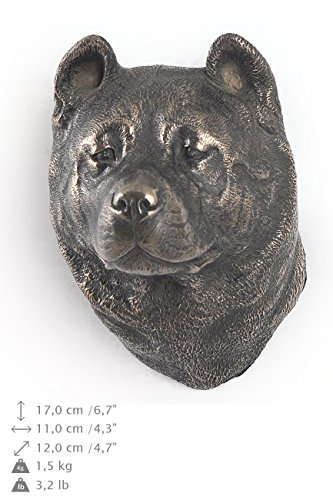 Akita Inu, Hund, Bronze, Statue an der Wand, hängen, Limitierte Edition, Art - Akita-statue