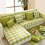 #9: Pinkdose Pastoral Plaid Chic Look Corner Sofa Cover Armrest Fabric 4 Seasons Home Decoration (PinD_hm_6lk17909)