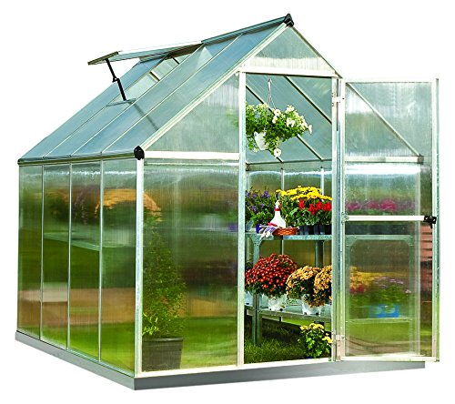 Palram MYTHOS GREENHOUSE (6X8, Silver) for sale  Delivered anywhere in UK