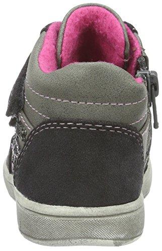 indigo by Clarks Sneaker, Baskets Basses Fille Gris (250 DK.GREY VL)