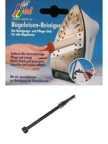UNIVERSAL Reinigungsset für Bügeleisen Reiniger Pflege mit Reinigungsbürste Dampfkanal Bügelsohle Reinigungsstift