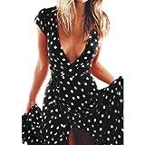 Vestido de mujer, Dragon868 2018 Verano bohemio largo cóctel fiesta vestido de novia playa vestido de mujer (XXL, Negro)