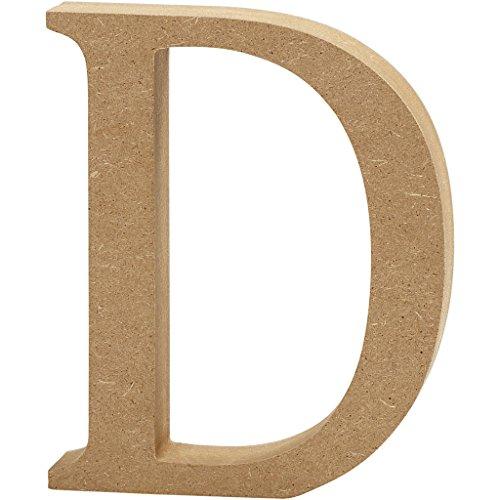 """Creativ """"D MDF Letter, Brown, 13 x 2 cm"""