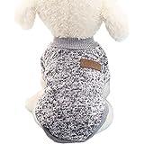 Ularma Kleine Haustier Hund Pullover Soft Bequem Sweatshirt 8 Farben für Teddy Mops Bulldogge (M, Grau)