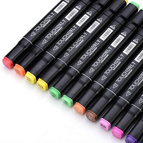 Yaheay 40 Farben Art Marker Set, Dual Tip Permanent Sketch Marker Stift Textmarker Set Zeichenstift für Erwachsene und Kinder Färbung Zeichnung Skizzieren (Anime Design 40 Farben)