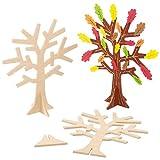 Baker Ross Schmuckbaum aus Holz - für Kinder zum Bemalen und Dekorieren - Geschenkidee zum Muttertag (2 Stück)