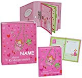 Unbekannt 2 tlg. Set: Ringbuch / Sammelordner  Meine Kindergartenzeit  Album + Freundebuch - incl. Name - Kindergarten / Dokumente A4 - Prinzessin Freunde - Ordner al..