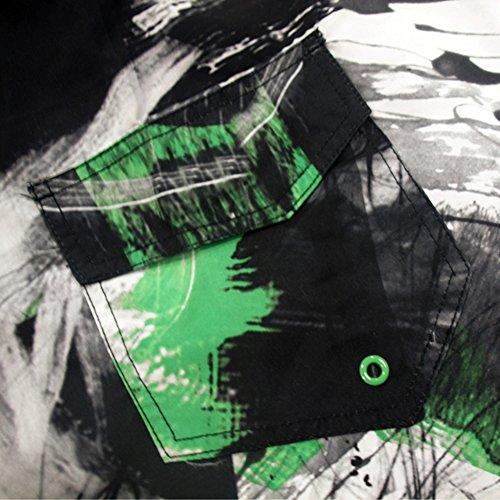 Madhero Herren Badeshort Green Scrawl