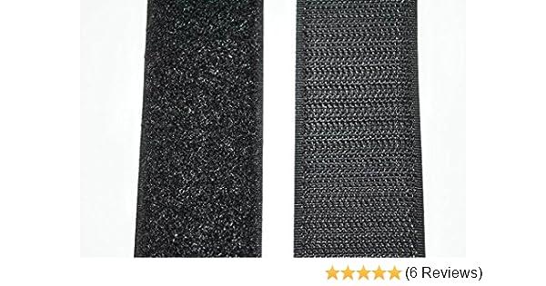 1m Klettband 50mm schwarz oder weiss Klettverschluss Hakenband und Flauschband