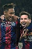 Messi Neymar fotografia firmato edizione limitata + stampato Autograph