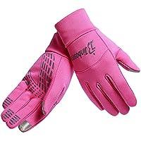 HTTOAR Guantes de Ciclismo para Mujer, Invierno cálido, Guantes táctiles para Ciclismo para Exteriores con Pantalla táctil a Prueba de Agua (Pink, M)