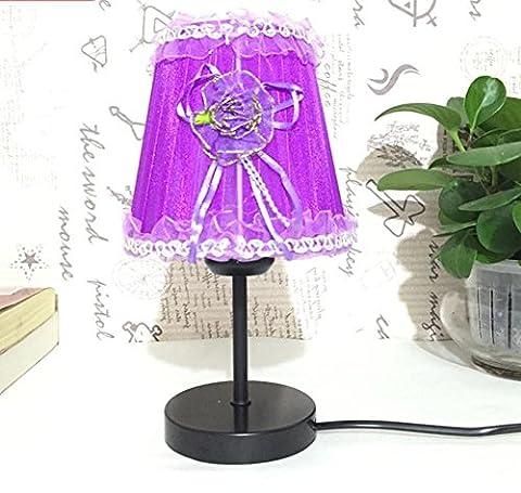 Europäische Stil Nachttisch Lampe Rot Rosa Prinzessin Kinder Tischlampe Kreative Mädchen Feier Dimmen Geschenk Tischlampe , 1