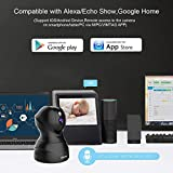 Dome Kamera - Atuten WiFi IP Kamera 1080P WLAN Überwachungskamera,Smart Home Kamera mit Nachtsicht,Auto-Rotation,2 Wege Audio,Bewegungsalarm,64G TF Card, Baby Monitor, Kompatible mit Alexa Echo Show - 3
