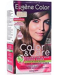Eugène Color Care Coloration/Soin Longue Durée à l'Huile de Pépins de Raisin sans Ammoniaque Nuance 7.31 Blond...