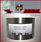 Gel y Etanol Chimenea Modelo Marseille - Elige el color (Acero inoxidable)