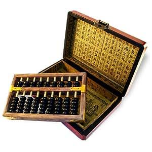 BOULIER CHINOIS EN COFFRET - Style Antiquité Chinoise - Décoration Asiatique Impériale