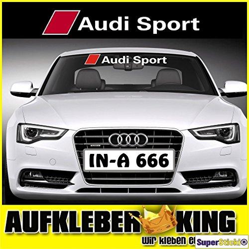 Audi-Sport 95 cm Aufkleber Autoaufkleber Tuningaufkleber von SUPERSTICKI® aus Hochleistungsfolie für alle glatten Flächen UV und Waschanlagenfest Tuning Profi Qualität Auto KFZ Scheibe Lack Profi-Qualität Tuning