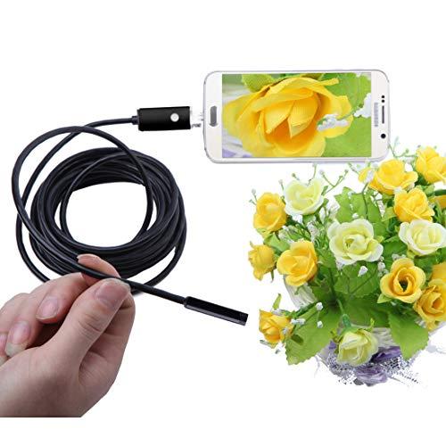Springdoit-Endoscopio-USB-Android-5M-55mm-LED-Fotocamera-impermeabile-per-endoscopio-da-13-Megapixel-Nero