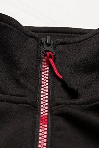 Ulla Popken Femme Grandes tailles Veste sweat-shirt et fermeture Éclair Polaire 705864 noir/rouge