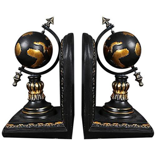 ACAMPTAR Amerikanischen Globus Buchstütze Harz Figuren Retro Globus Buch Stand Modell Miniatur Ornamente Kreatives Handwerk Haushalts Dekor