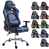 CLP Fauteuil de Bureau Gaming XL Limit Similicuir I Chaise de Bureau Racing...