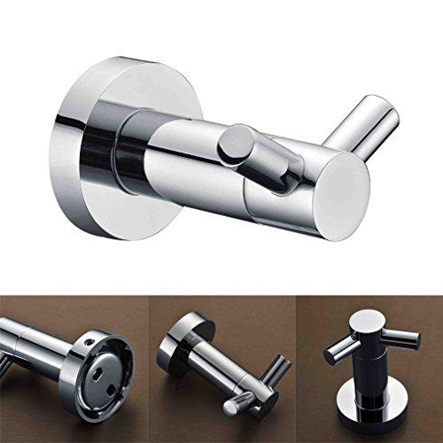 Kinse® Gancio da parete Porta Appendiabiti Accessori per il bagno Ottone Extra resistente Supporto Forma Round