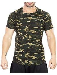 SMILODOX Camouflage Slim Fit T-Shirt Herren | Kurzarm Funktionsshirt für Sport Fitness Gym & Training | Trainingsshirt - Laufshirt - Sportshirt mit Aufdruck