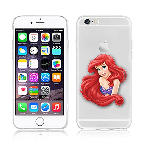 NEW DISNEY PRINCESSES TRANSPARENT CLEAR TPU SOFT CASE FOR APPLE IPHONE 8 PLUS - AREIL 3 ARIEL 7