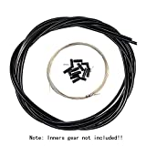 Aulola® anteriore e posteriore interno esterno filo freno Gear cable set, Black