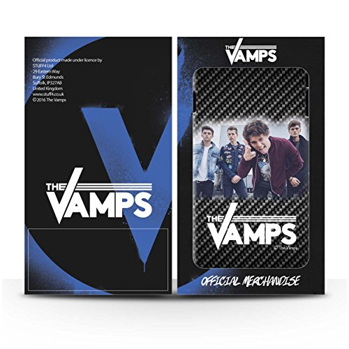 Officiel The Vamps Coque / Clipser Brillant Etui pour Apple iPhone 5C / Pack 6pcs Design / The Vamps Séance Photo Collection Effet Carbone