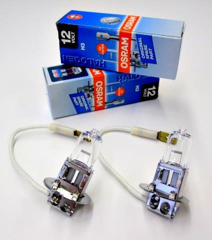 2x OSRAM 64151 H3 55W HIGH TECH LONGLIFE HALOGEN LAMPE AUTOLAMPE BIRNE UV-FILTER ERSTAUSRÜSTER NEU & OVP