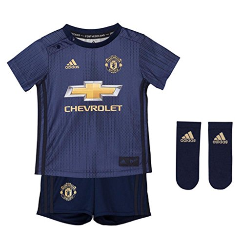 95a5a9363 adidas Manchester United F.C. Short pour Enfant Taille 3 4 M Collegiate Navy  Night