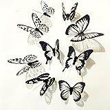sunnymi 36 Stück Wandsticker Schwarz-Weißer Schmetterling Dekoration 3D Wall Stickers Home Dekore House Wall Decal Sticker Home Decor Wanddeko Baby Kinderzimmer Deko (Mehrfarbig)