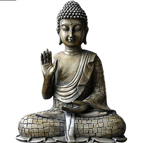Sinzong Escultura Figurasescultura Figurasdesktop Decoración Buda Estatua Cabeza De Buda Artesanía, A